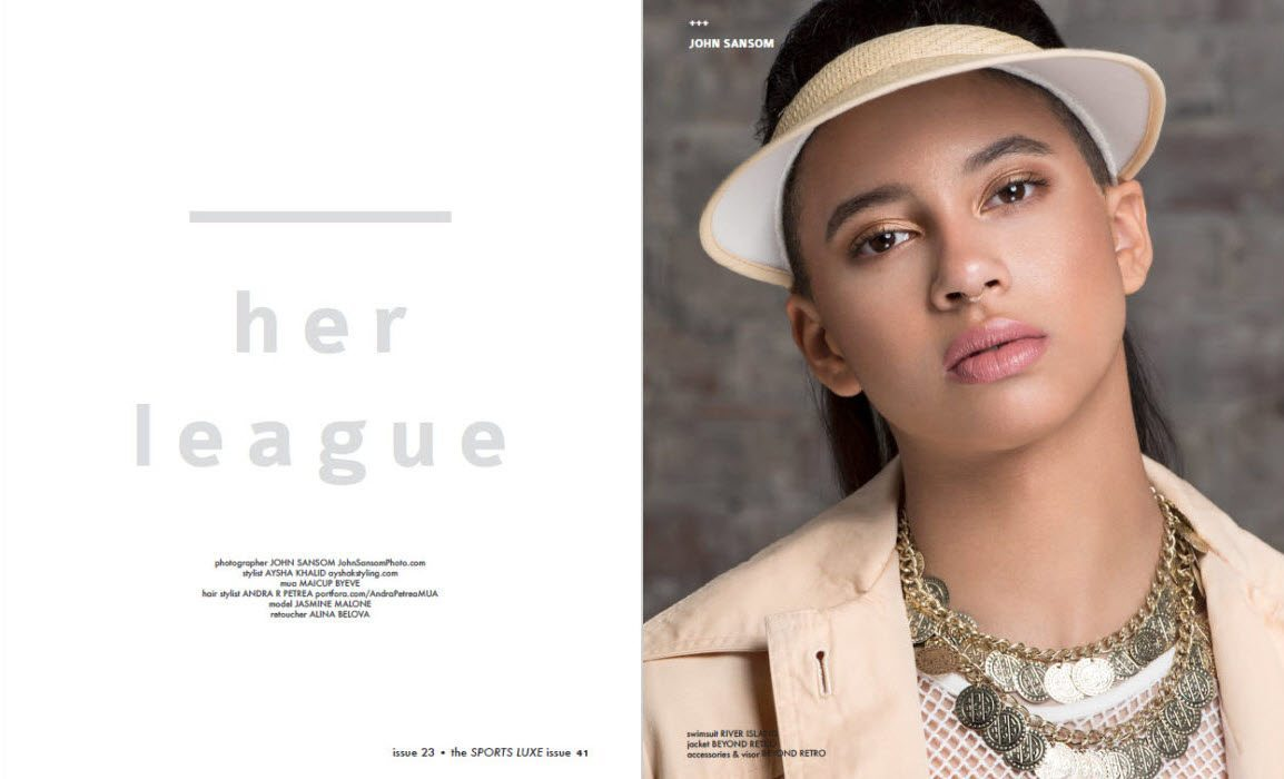 Her League - For Dreamingless Magazine (Sports Luxe issue) - by John Sansom Photography