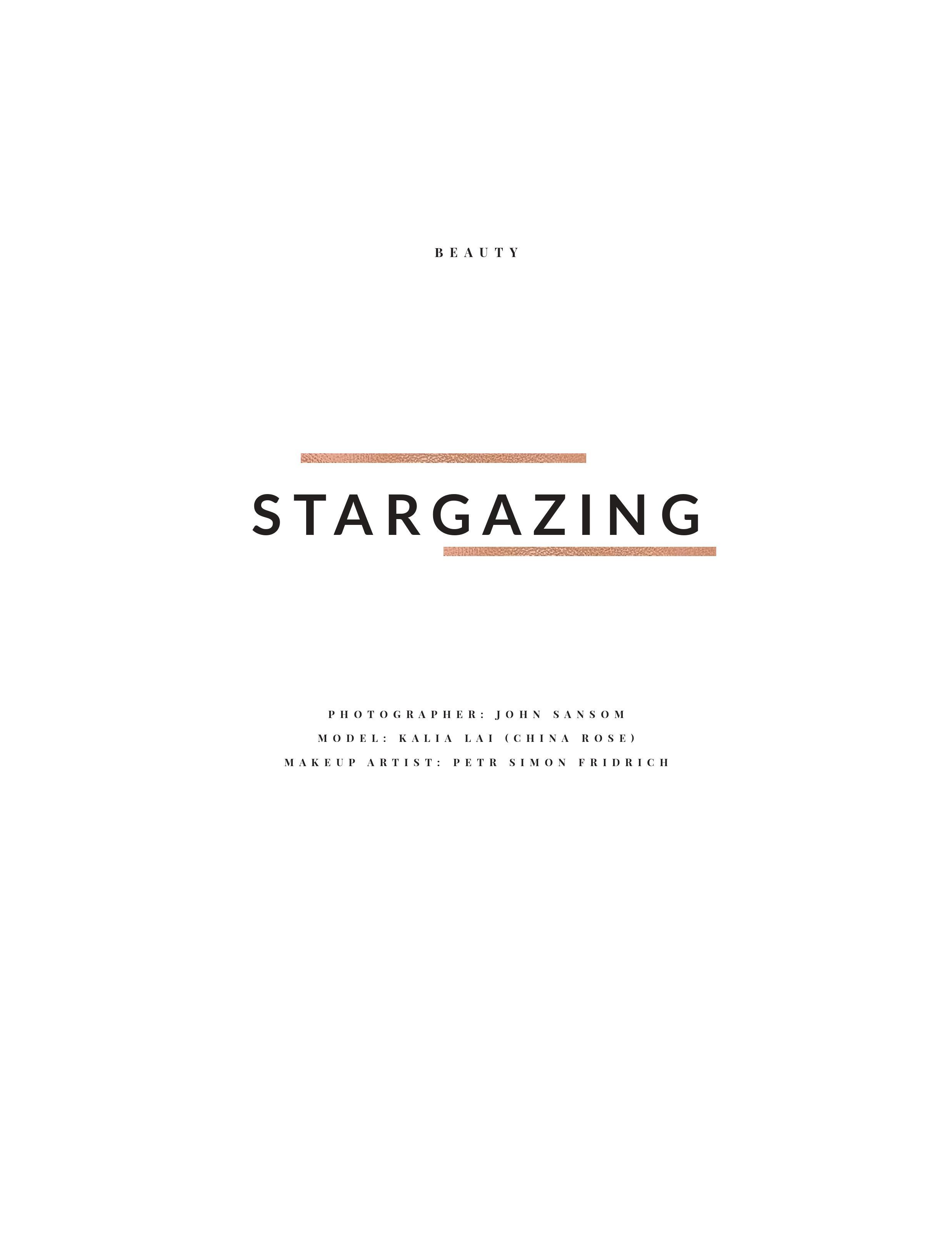 Stargazing - Elegegant Magazine story cover page