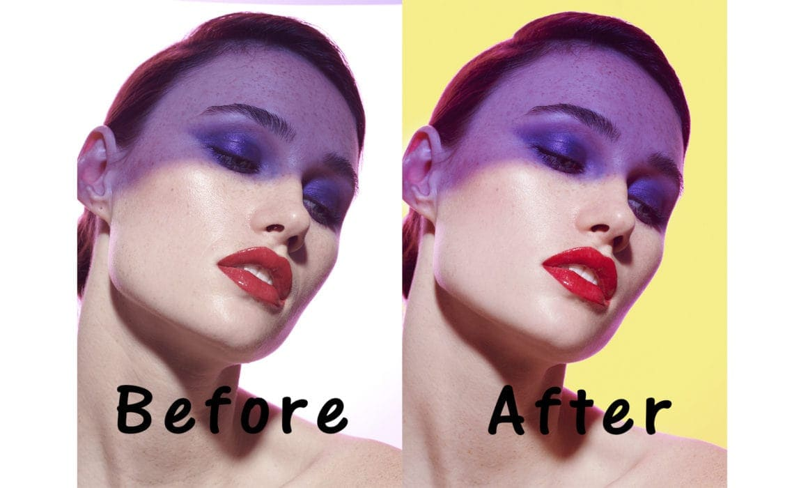 Beauty Retouch Photoshop Workflow Before Aftrer Image of stunning model