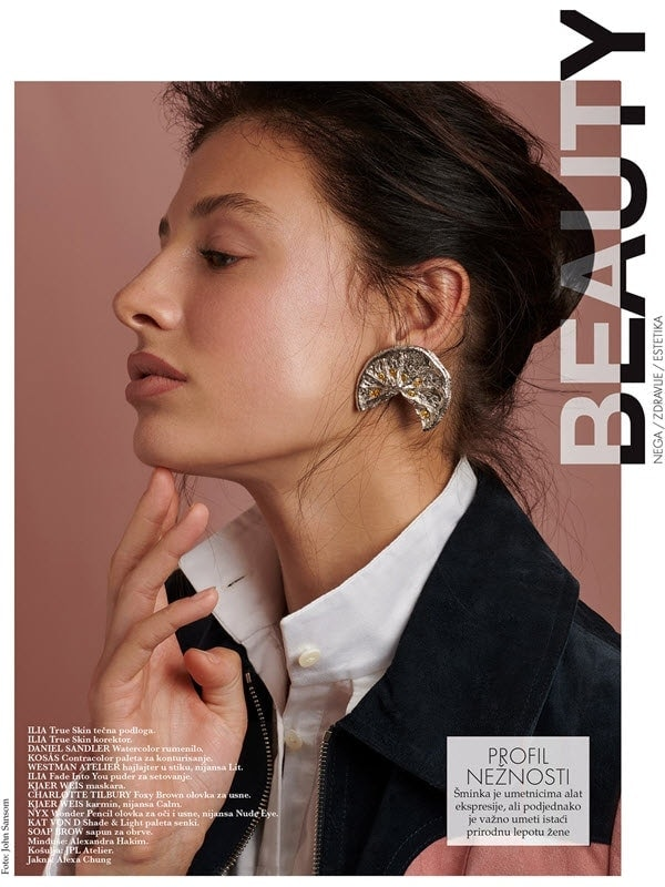 ELLE Serbia Oct 2020 Beauty Editorial by photographer John Sansom